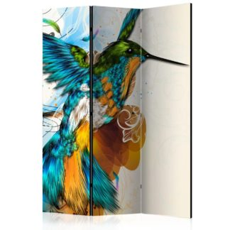 Paraván Bird's Music Dekorhome 135x172 cm (3-dílný)