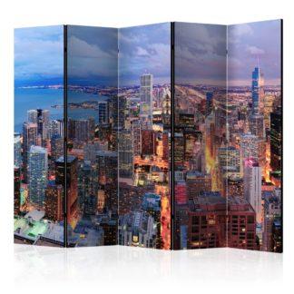 Paraván Illuminated Chicago Dekorhome 225x172 cm (5-dílný)