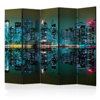 Paraván Gold reflections - NYC Dekorhome 225x172 cm (5-dílný)