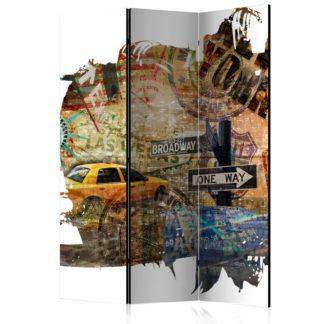 Paraván New York Collage Dekorhome 135x172 cm (3-dílný)