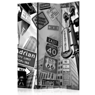 Paraván Roads to Manhattan Dekorhome 135x172 cm (3-dílný)