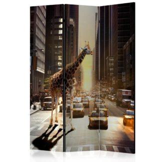 Paraván Giraffe in the Big City Dekorhome 135x172 cm (3-dílný)
