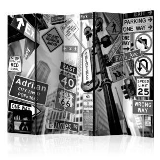 Paraván Roads to Manhattan Dekorhome 225x172 cm (5-dílný)