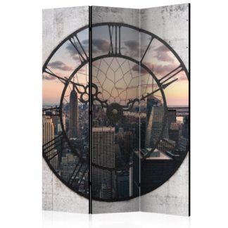 Paraván NYC Time Zone Dekorhome 135x172 cm (3-dílný)