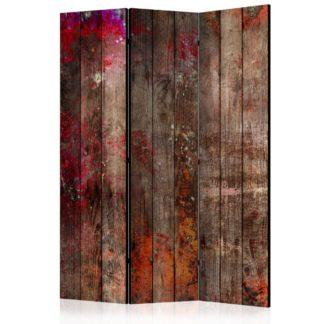 Paraván Stained Wood Dekorhome 135x172 cm (3-dílný)