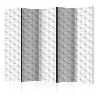 Paraván Grey Hearts Dekorhome 225x172 cm (5-dílný)