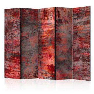 Paraván Red Metal Dekorhome 225x172 cm (5-dílný)