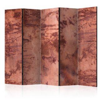 Paraván Red Metal Sheet Dekorhome 225x172 cm (5-dílný)