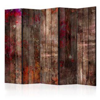 Paraván Stained Wood Dekorhome 225x172 cm (5-dílný)