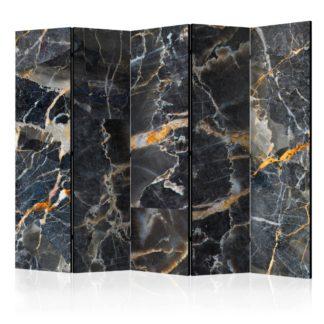 Paraván Black Marble Dekorhome 225x172 cm (5-dílný)