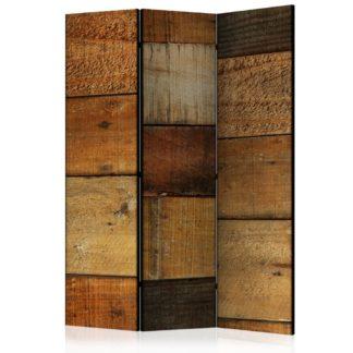 Paraván Wooden Textures Dekorhome 135x172 cm (3-dílný)