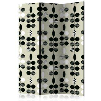 Paraván Black and White Dots Dekorhome 135x172 cm (3-dílný)