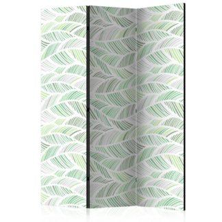 Paraván Green Waves Dekorhome 135x172 cm (3-dílný)