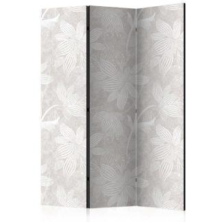 Paraván Floral Elements Dekorhome 135x172 cm (3-dílný)