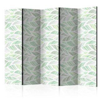 Paraván Green Waves Dekorhome 225x172 cm (5-dílný)