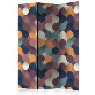 Paraván Colourful Particles Dekorhome 135x172 cm (3-dílný)