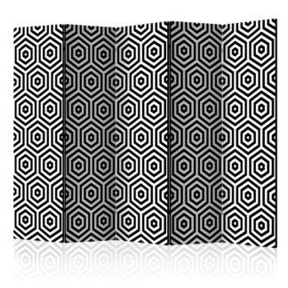 Paraván Black and White Hypnosis Dekorhome 225x172 cm (5-dílný)