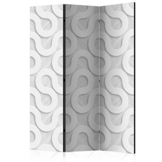 Paraván Grey Spirals Dekorhome 135x172 cm (3-dílný)