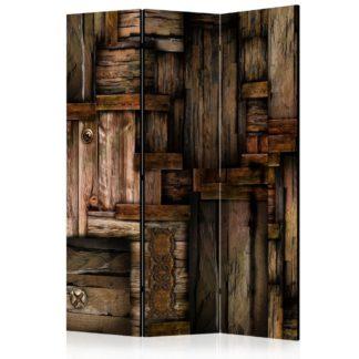 Paraván Wooden puzzle Dekorhome 135x172 cm (3-dílný)