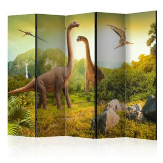 Paraván Dinosaurs Dekorhome 225x172 cm (5-dílný)
