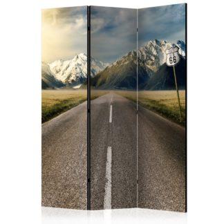 Paraván The long road Dekorhome 135x172 cm (3-dílný)