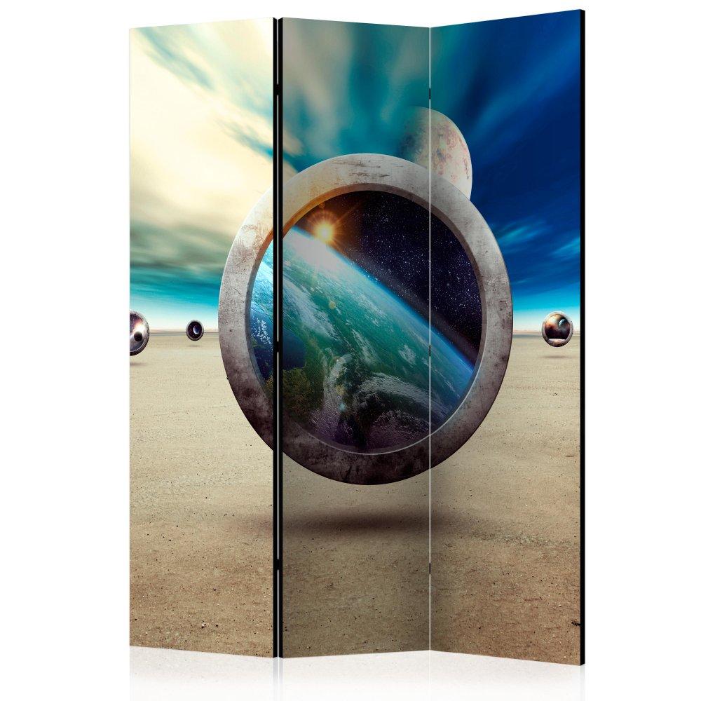 Paraván Planet Walk Dekorhome 135x172 cm (3-dílný)