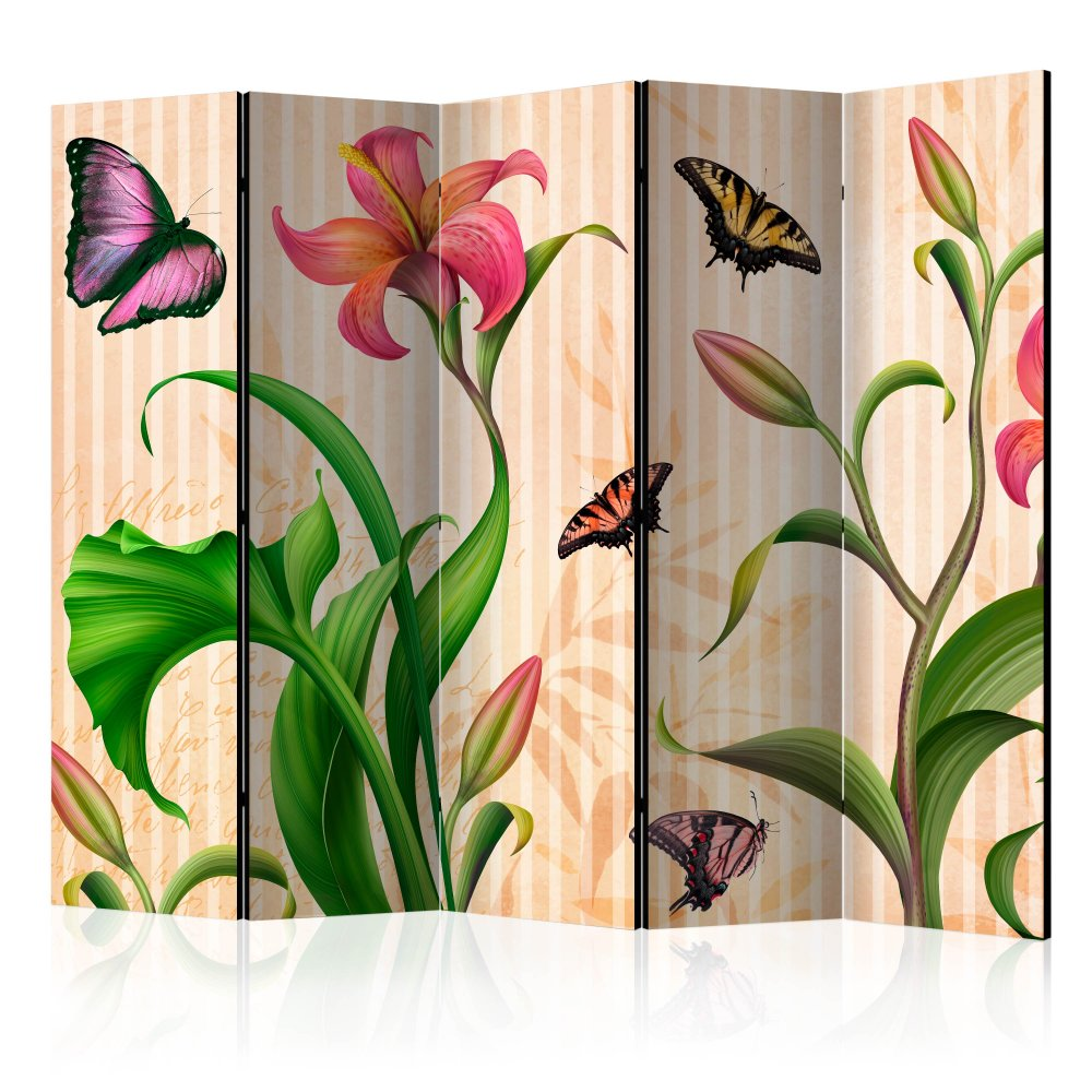 Paraván Vintage - spring Dekorhome 225x172 cm (5-dílný)