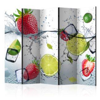 Paraván Fruit cocktail Dekorhome 225x172 cm (5-dílný)