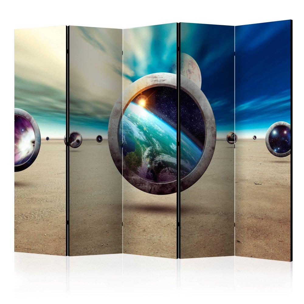 Paraván Planet Walk Dekorhome 225x172 cm (5-dílný)