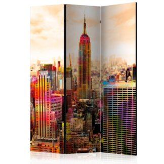Paraván Colors of New York City III Dekorhome 135x172 cm (3-dílný)