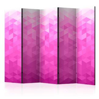 Paraván Pink pixel Dekorhome 225x172 cm (5-dílný)