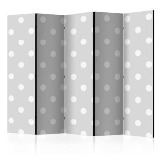 Paraván Cheerful polka dots Dekorhome 225x172 cm (5-dílný)