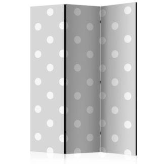 Paraván Cheerful polka dots Dekorhome 135x172 cm (3-dílný)