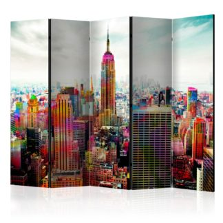 Paraván Colors of New York City Dekorhome 225x172 cm (5-dílný)