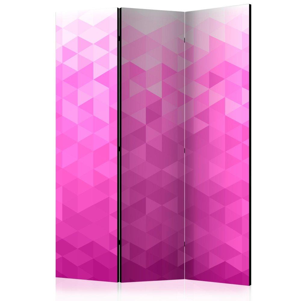 Paraván Pink pixel Dekorhome 135x172 cm (3-dílný)