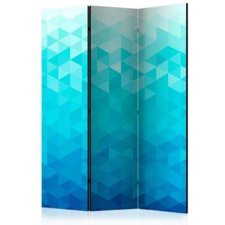 Paraván Azure pixel Dekorehome 135x172 cm (3-dílný)