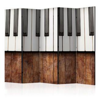 Paraván Inspired by Chopin - mahogany Dekorhome 225x172 cm (5-dílný)