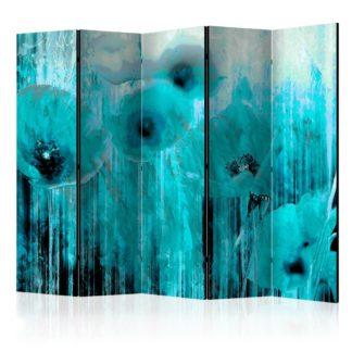 Paraván Turquoise madness Dekorhome 225x172 cm (5-dílný)