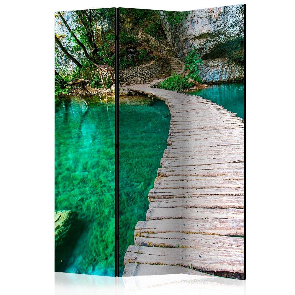 Paraván Plitvice Lakes National Park Croatia Dekorhome 135x172 cm (3-dílný)