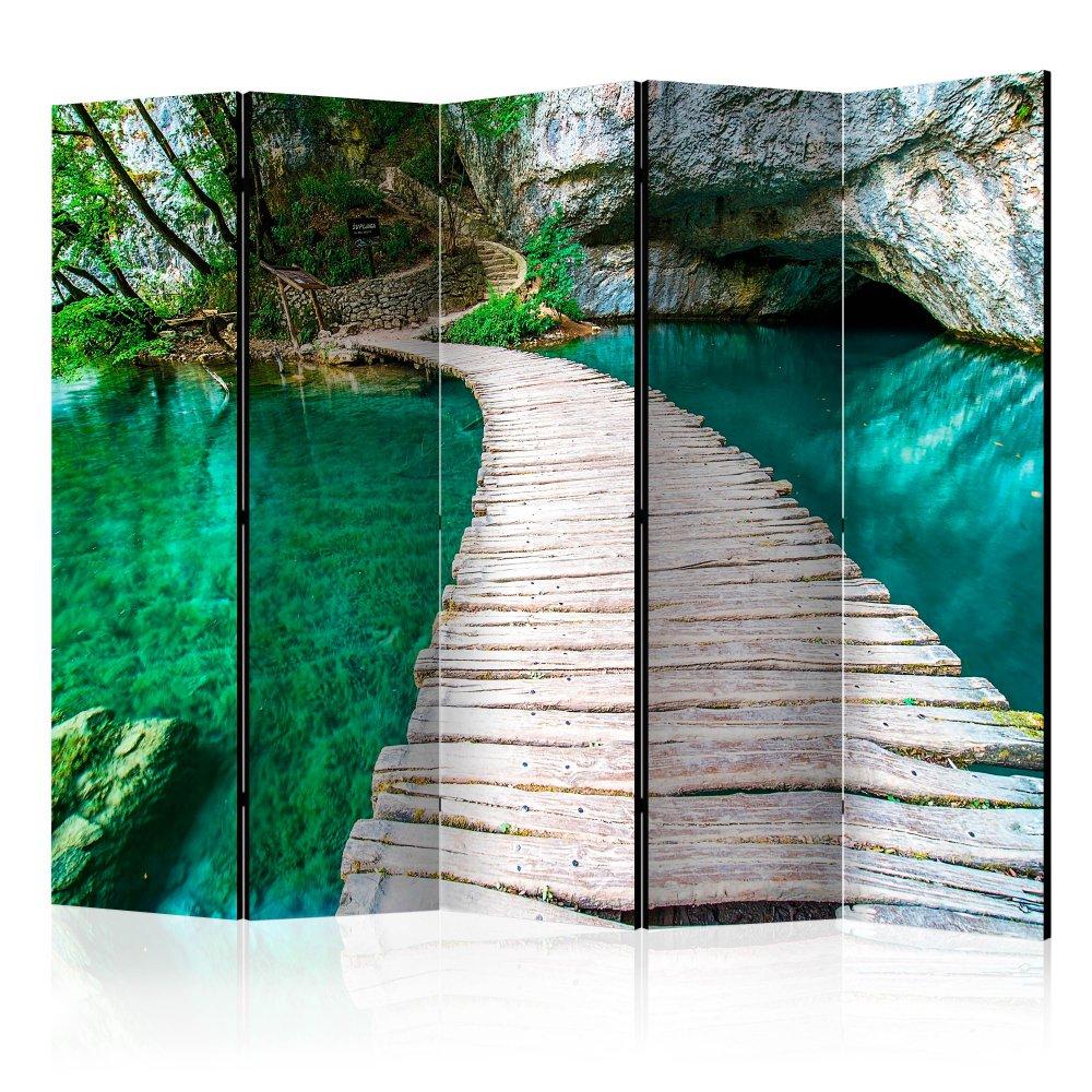Paraván Plitvice Lakes National Park Croatia Dekorhome 225x172 cm (5-dílný)