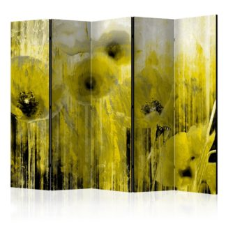Paraván Yellow madness Dekorhome 225x172 cm (5-dílný)