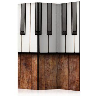 Paraván Inspired by Chopin - mahogany Dekorhome 135x172 cm (3-dílný)