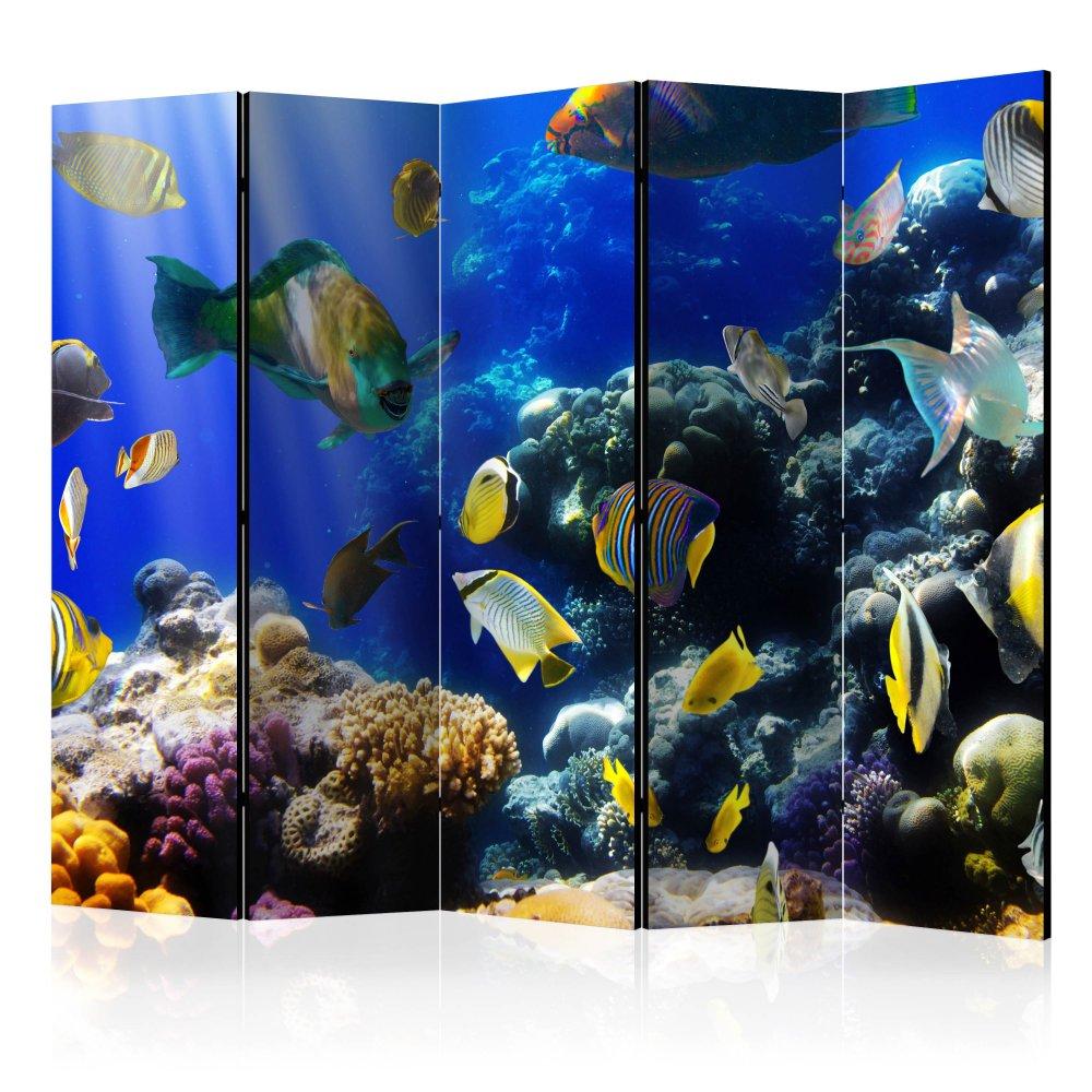 Paraván Underwater adventure Dekorhome 225x172 cm (5-dílný)