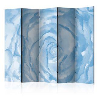 Paraván rose (blue) Dekorhome 225x172 cm (5-dílný)