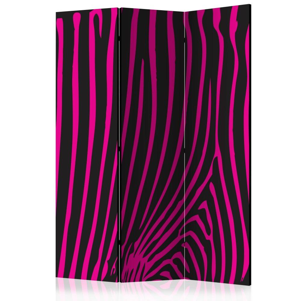 Paraván Zebra pattern (violet) Dekorhome 135x172 cm (3-dílný)