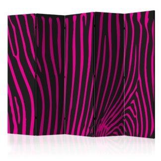 Paraván Zebra pattern (violet) Dekorhome 225x172 cm (5-dílný)