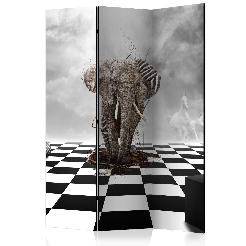 Paraván Escape from Africa Dekorhome 135x172 cm (3-dílný)