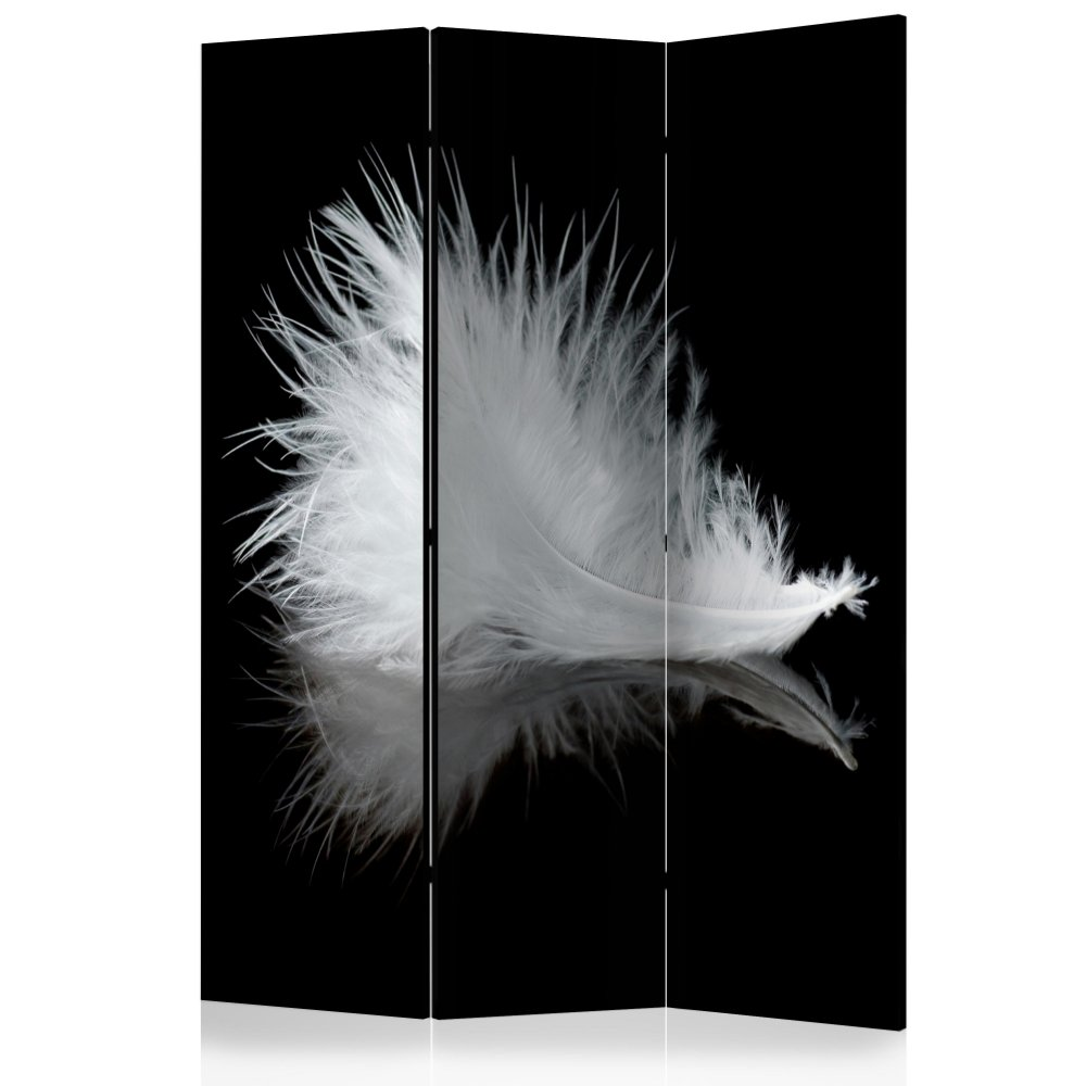 Paraván White feather Dekorhome 135x172 cm (3-dílný)