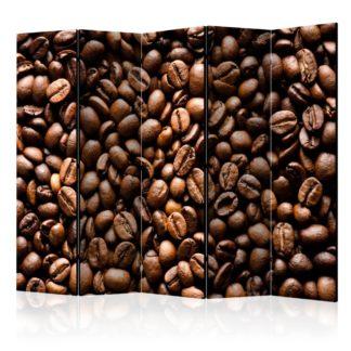 Paraván Roasted coffee beans Dekorhome 225x172 cm (5-dílný)