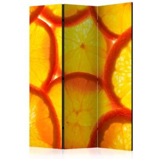 Paraván Orange slices Dekorhome 135x172 cm (3-dílný)